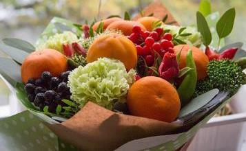 вкусные букеты из ягод и фруктов